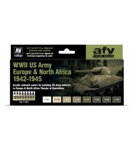 Set Vallejo Model Air 8 u. (17 ml.) WWII US Army Europe & North Africa 1942-1945