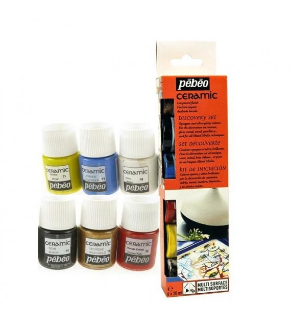 Pebeo Ceramic Discovery Set 6 u. 20 ml.