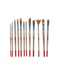 Set 12 pennelli sintetici assortiti Art Creation