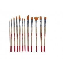 Art Creation 12 assorted synthetic brushes set