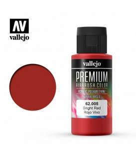 62005 Bright Red Vallejo Premium Color (60 ml.)