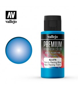 62076 Candy Racing Blue Vallejo Premium Color (60 ml.)