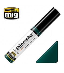 Oilbrusher Huile Ammo Mig Mecha Dark Green