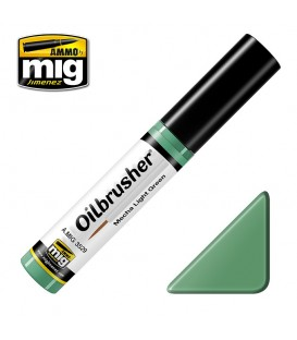 Oilbrusher Huile Ammo Mig Mecha Light Green
