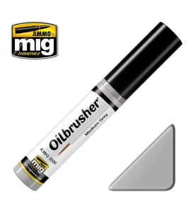 Oilbrusher Oil Ammo Mig Medium Grey