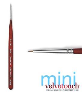 20/0 SPOTTER Round Short Synthetic brush 3950 MINI short handle.
