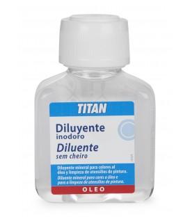Diluente Inodoro para Oleo Titan 100 ml.