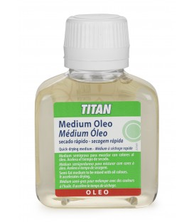 Medium Oleo Secado Rapido Titan 100 ml.