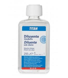 Odorless Diluent for Oil Paint Titan 250 ml.