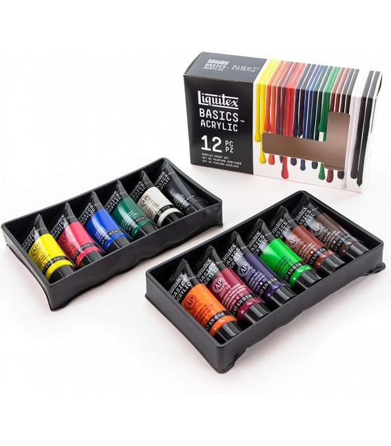 Set pintura acrilica Liquitex Basics 12 tubs