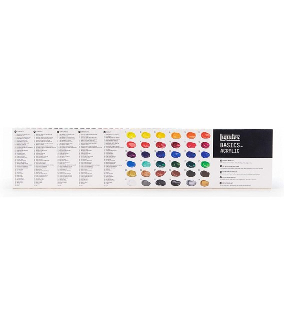 Set pintura acrilica Liquitex Basics 36 tubs