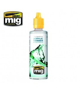 Acrylic Thinner AMMO MIG Jimenez 60 ml.
