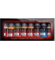 Set Vallejo Game Color 8 u. (17 ml.) Tonos Piel.