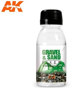 AK118 Gravel and sand fixer 100 ml.