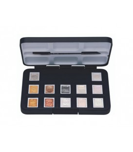 Water color Metallic and Interference set Van Gogh plastic set 12 1/2 pans