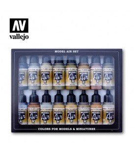 Set Vallejo Model Air 16 u. (17 ml.) German WWII Europe & Africa