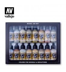 Set Vallejo Model Air 16 u.(17 ml.)Alemanya WWII Europa & Africa