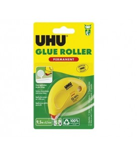 UHU Dry and Clean Pegamento Permanente en Roller 8,5 m x 6,5 mm