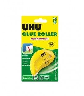 UHU Dry and Clean Pegamento no Permanente en Roller 8,5 m x 6,5 mm