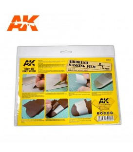 AK9045 2 sheets A4 Airbrushing Masking Film