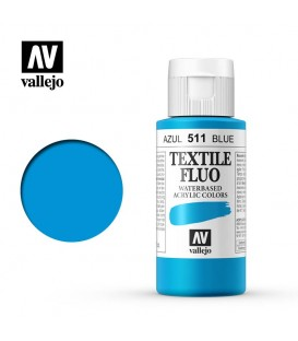 511 Blue fluorescent Textile Color Vallejo 60 ml.