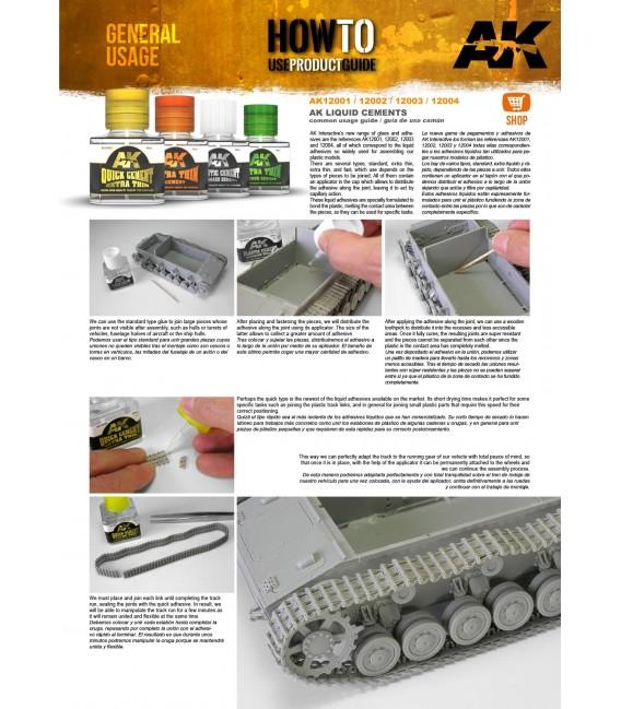 Adhesivo Plastic Cement Standard Density AK12003 40 ml.