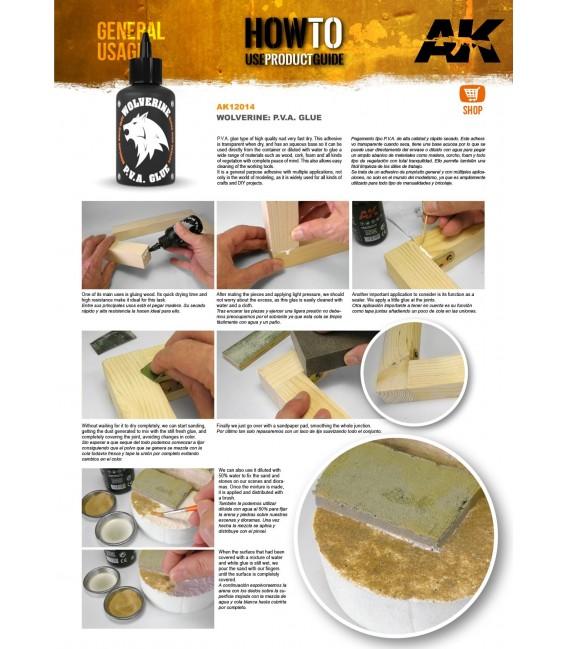 Adhesive AK12014 Wolverine P.V.A. Glue 100 ml.