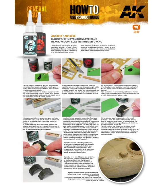 Adhesiu Magnet Ultra Resistant Cyanocrylate Glue AK12015 20 gr.