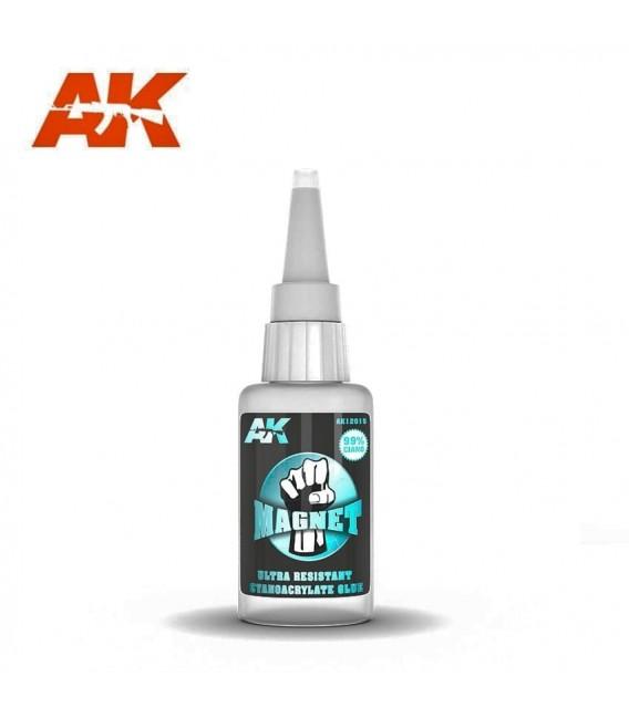 Adhesive Magnet Ultra Resistant Cyanocrylate Glue AK12015 20 gr.
