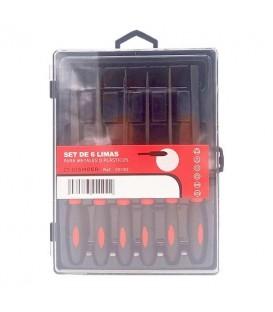Set de 6 limas para metal e plastico 20102