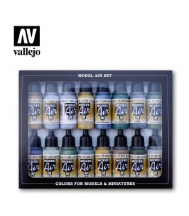 Set Vallejo Model Air 16 u. (17 ml.) RAF & FAA aircraft WWII.