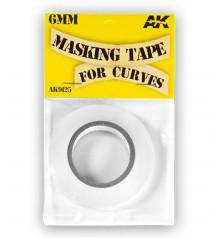 AK Masking Tape for curves AK9125 6mm x 18 m.