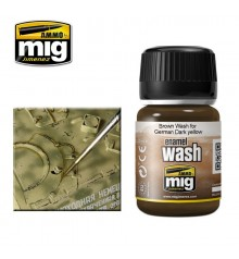 AMIG1000 Brown wash for german dark yellow 35 ml.
