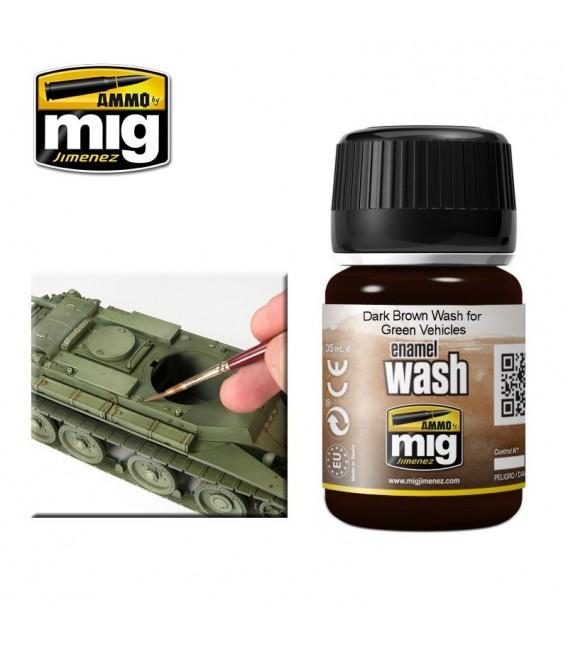 AMIG1005 Dark brown wash for green vehicles 35 ml.