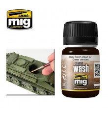 AMIG1005 Dark brown wash for green vehicles 35 ml.