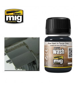AMIG1006 Blue wash for panzer grey 35 ml.