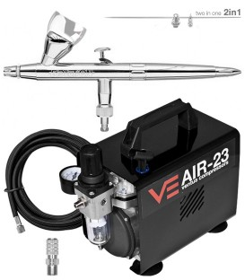 Evolution Airbrush Kit Silverline Two in One (0,2 / 0.4)