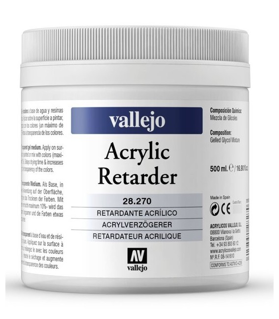 Acrylic retarder Vallejo 500 ml.