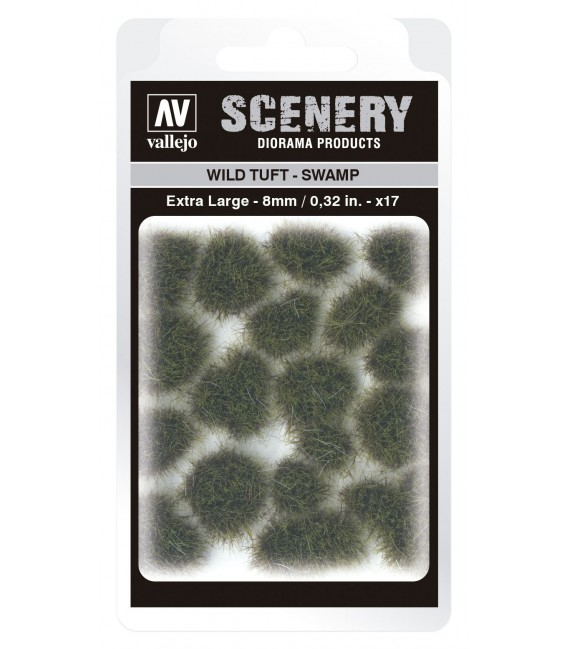 SC422 Swamp Wild Tuft Extra Large 8 mm Vallejo Scenery