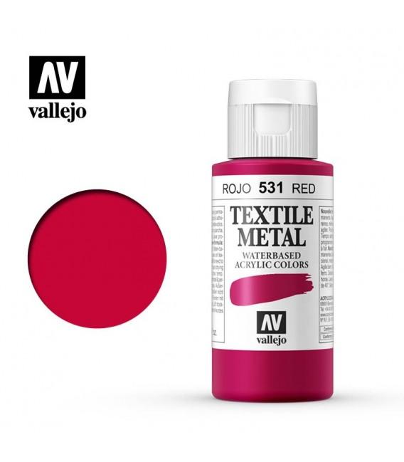 531 Red metallic Textile Color Vallejo 60 ml.