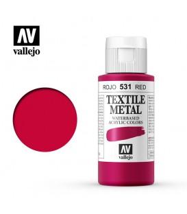 531 Rojo metalico Textile Color Vallejo 60 ml.