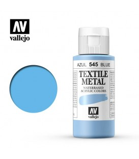545 Blue metallic Textile Color Vallejo 60 ml.