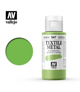 547 Green metallic Textile Color Vallejo 60 ml.