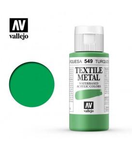 549 Turquoise metallic Textile Color Vallejo 60 ml.
