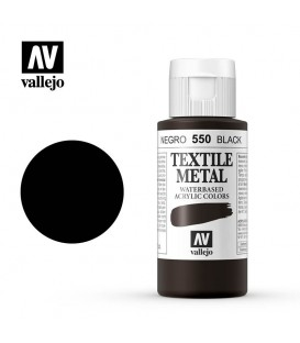 550 Black metallic Textile Color Vallejo 60 ml.