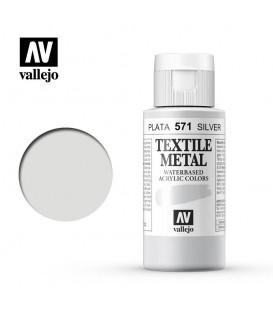 571 Silver metallic Textile Color Vallejo 60 ml.