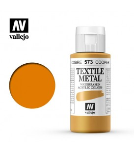 573 Copper metallic Textile Color Vallejo 60 ml.