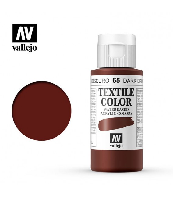 65 Velvet Brown Textile Color Vallejo 60 ml.
