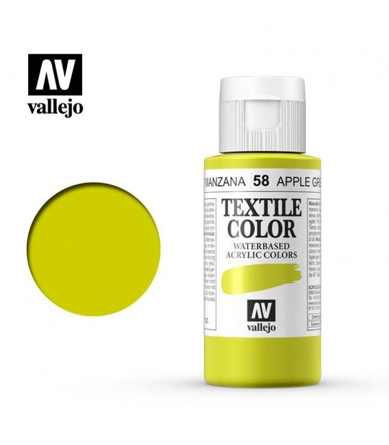 58 Apple Green Textile Color Vallejo 60 ml.