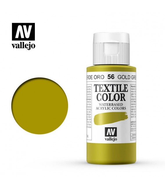 56 Gold Green Textile Color Vallejo 60 ml.